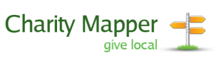 Charity Mapper. Give Local. (Logo)